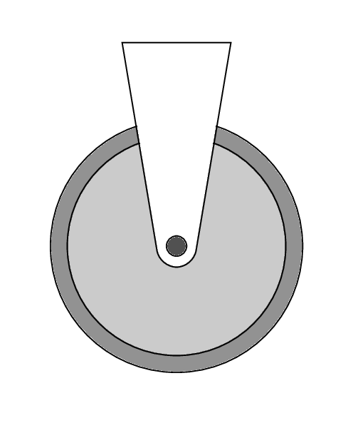 Pulley Axle rounded corners