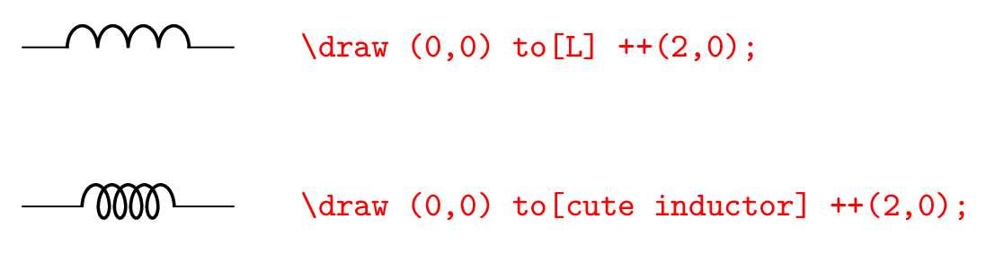 Circuitikz inductor style