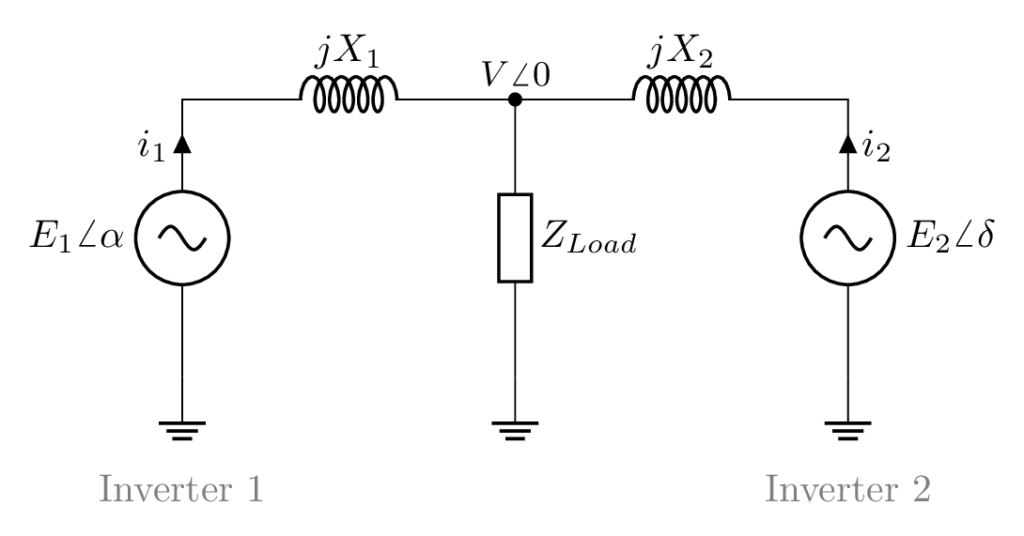 Equivalent Model Two Inverters in LaTeX using CircuiTikZ