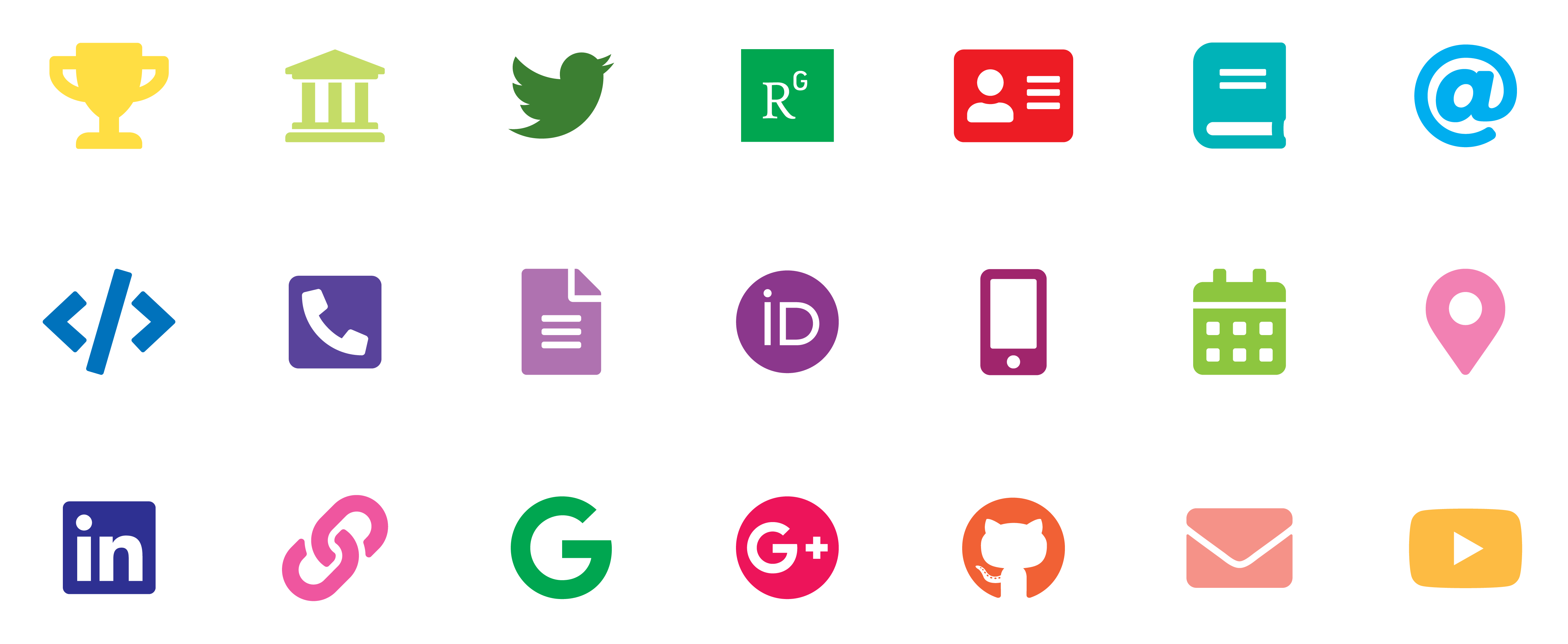 FontAwesome LaTeX TikZ icons