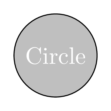 fill color node circle tikz