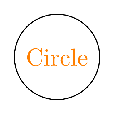 text color node circle tikz
