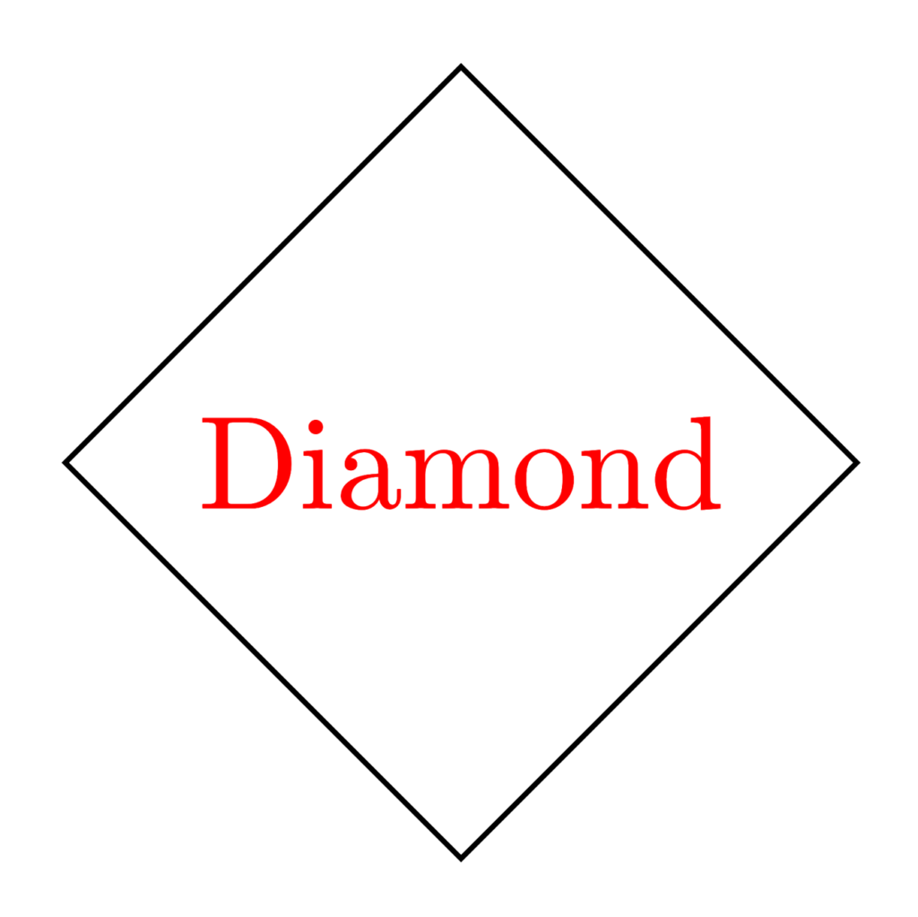 Diamond shape in TikZ
