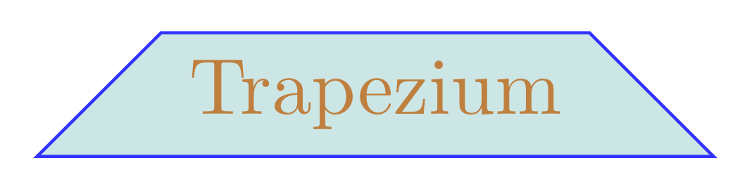 Trapezium with equal angles in TikZ